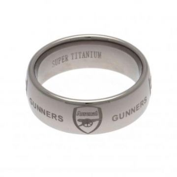 Arsenal Super Titanium Ring Small - Size R